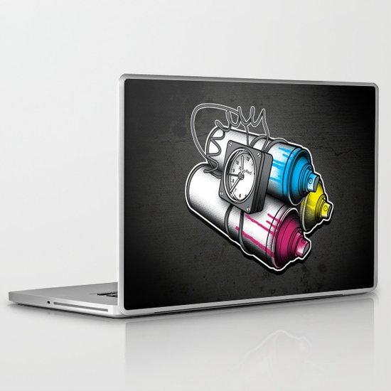 Graffiti Bombing Laptop & iPad Skin
