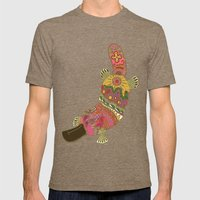 duck-billed platypus linen Mens Fitted Tee Tri-Coffee SMALL