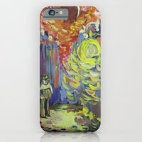 iPhone & iPod Case featuring Loneliness under the street light by Renata Kats