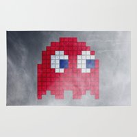 Pac-Man Red Ghost Rug