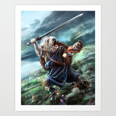 Bruno The Brave Art Print