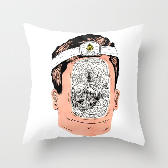 Journey to the center of the earth Throw Pillow