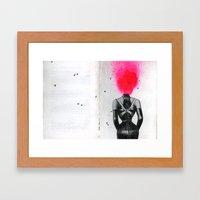 Training corset with shoulder back brace Framed Art Print
