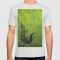 Leopard Gecko Mens Fitted Tee Silver SMALL