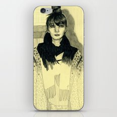 Fashion sketch iPhone & iPod Skin