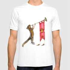 Herald Chipmunk SMALL Mens Fitted Tee White