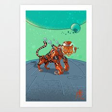 Astro Zodiac Force 03: Tiger Art Print