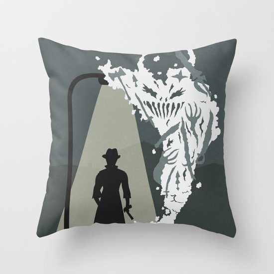 Shady Killer Throw Pillow