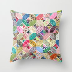Betty's Diamond Quilt Throw Pillow