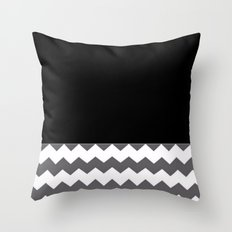 Chevron Gray Black And White Throw Pillow