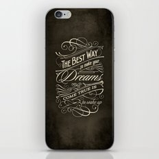 The Best Way - Typography iPhone & iPod Skin