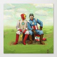 Friends? Canvas Print