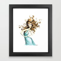 Fashion Goddess Framed Art Print