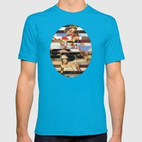 Glitch Pin-Up Redux: Dai… Mens Fitted Tee Teal SMALL