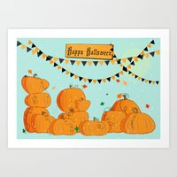 Halloween Pumpkins Art Print