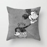 headless mouse Throw Pillow