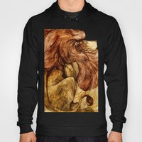 Une Crinière de Lion (the haughty and brilliant lion) Hoody