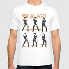 Move Like Jagger (MOVE LIKE COLLECTION) SMALL White Mens Fitted Tee