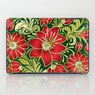 Shabby Flowers #4 iPad Case