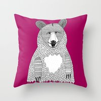 This bear Throw Pillow