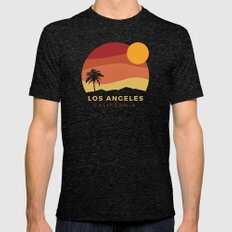 Los Angeles Sunset Mens Fitted Tee Tri-Black SMALL
