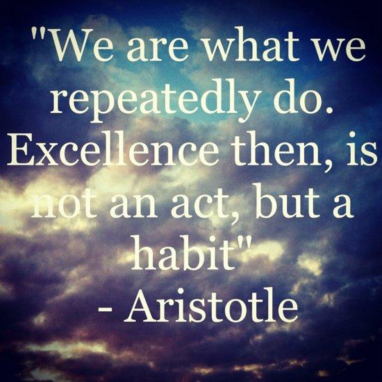 Habits Art Print