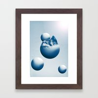 Ice Mountain Planet Framed Art Print