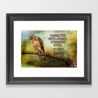 A Hawks Strength Framed Art Print