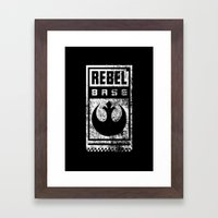 Rebel Base Framed Art Print