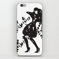 Humans & Nature | Fashion illustration | Black & White iPhone & iPod Skin