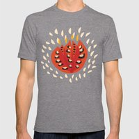 Red Abstract Tulip Mens Fitted Tee Tri-Grey SMALL