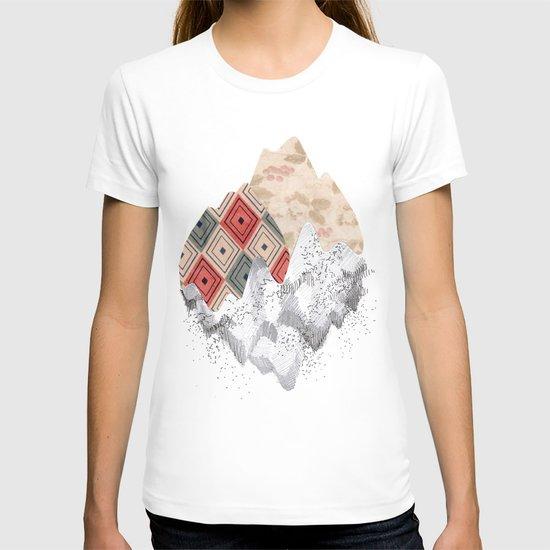 montañas collage T-shirt