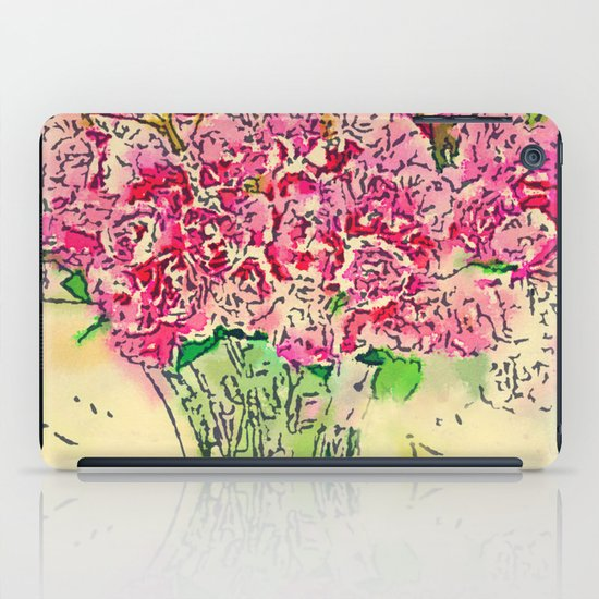 Coming Up Roses -- Pink Rose Flower Bouquet Waterlogue Paris Apt Chic Still Life iPad Case