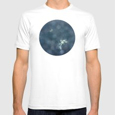 Floating Dandelion Petals SMALL White Mens Fitted Tee