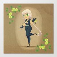 Retro Sailor Star Healer Canvas Print