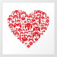 Gaming Love Art Print