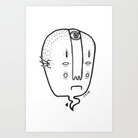 old head Art Print