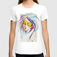 Calm Rebellion  Womens Fitted Tee White SMALL