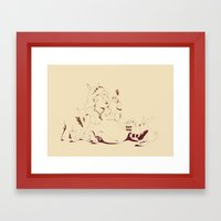 Alice stuck in the wonderland ! Framed Art Print