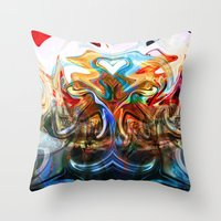 Liquified Space Throw Pillow