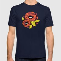 Grim Blossom Mens Fitted Tee Navy SMALL