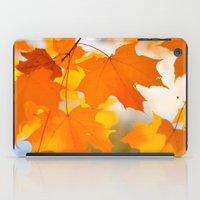 Yellow-orange Autumn iPad Case