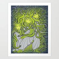 Medusa And The Gorgon Si… Art Print
