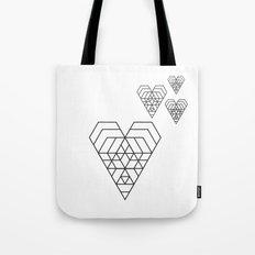 Hex heart Tote Bag