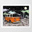 Moon Ride Color Art Print