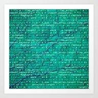 Code_forest Art Print
