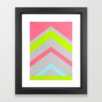 Abstract Neon Framed Art Print