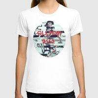 Glitch Decon 1 Womens Fitted Tee White SMALL