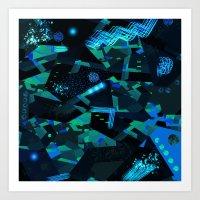 Blue Cosmos Art Print