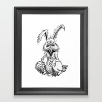 Easter Evil Framed Art Print